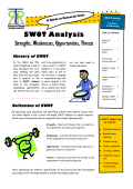 SWOT Analysis Strengths, Weaknesses, Opportunities, Threats