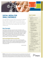 Social Media for Small Business - ONE