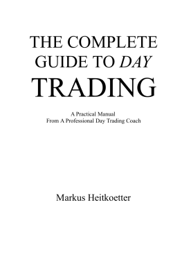 THE COMPLETE GUIDE TO DAY TRADING - Forex Factory