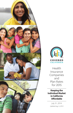Health Insurance Companies and Plan Rates for 2015 - Covered