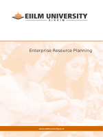 Enterprise Resource Planning - EIILM University