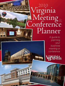 A guide to planning your business meeting or - Virginia Business