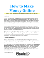 How to Make Money Online - PluginID