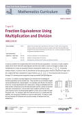 Topic B: Fraction Equivalence Using Multiplication and Division