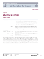 Topic F: Dividing Decimals - The Syracuse City School District