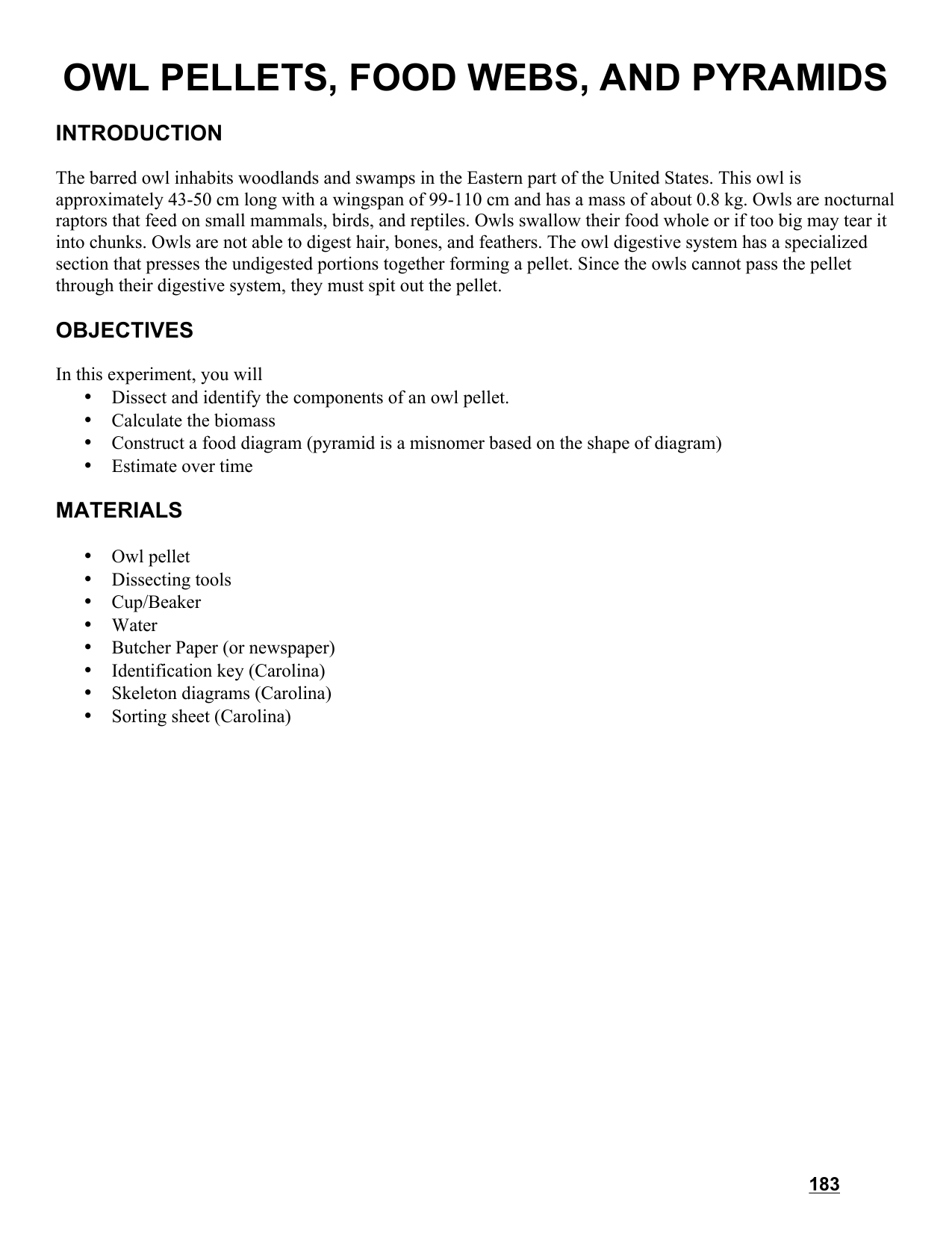 OWL PELLETS FOOD WEBS AND PYRAMIDS – Owl Pellet Dissection Worksheet
