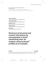 Disclosure of personal and contact information by young people in