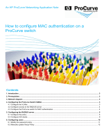 How to configure MAC authentication on a - Hewlett Packard