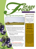 Hay crops vary across province How to stretch your hay supply Dr