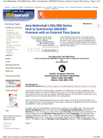 Amy Babinchaks ISA/SBS Series: How to Synchronize - sBOR