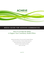 How to Leverage the Media to Support Your Community Health Efforts