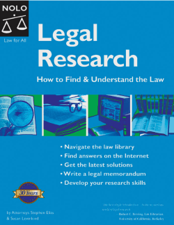 Legal Research : How to Find  Understand the Law - LegalPortal.am
