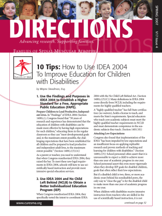 10 Tips: How to Use IDEA 2004 To Improve - Families of SMA