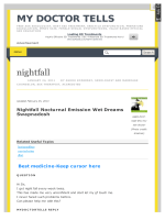 How to stop nightfall-sure-cure-treatment-best - mydoctortells