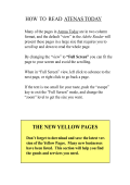 HOW TO READ ATENAS TODAY THE NEW YELLOW PAGES