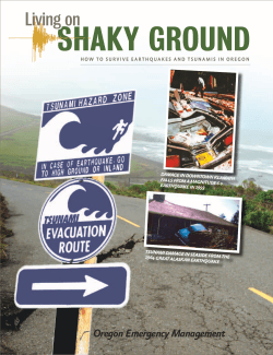 Living on Shaky Ground: How to survive earthquakes and tsunamis