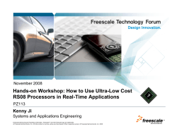 Hands-on Workshop: How to Use Ultra-Low Cost RS08 Processors
