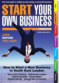 How to Start a New Business in South East London - Start Your Own