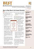 How to Stay Sane in An Insane Economy - Center for Information