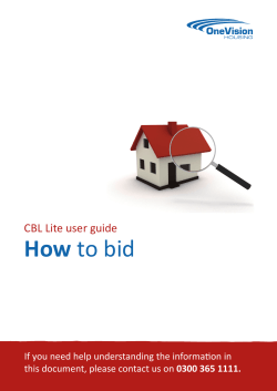 How to bid - Contact us
