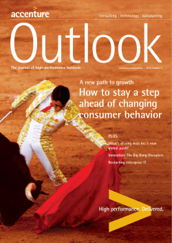 How to stay a step ahead of changing consumer behavior - Accenture