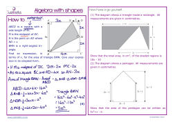 How to . . . Algebra with shapes - JustMaths