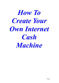 How To Create Your Own Internet Cash Machine - Reply Magic