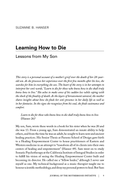 Learning How to Die