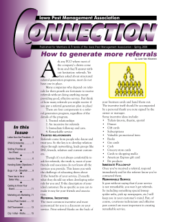 How to generate more referrals - Iowa Pest Management Association