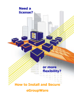 Need a license? or more flexibility? How to Install - ECI Networks