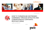 HOW TO TURNAROUND DISTRESSED COMPANIES - SmithNovak