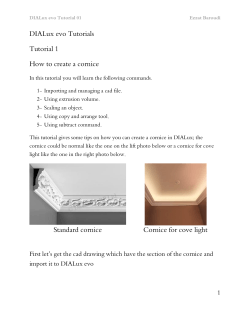 DIALux evo Tutorials Tutorial 1 How to create a cornice Standard