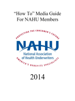 """How To"" Media Guide - NAHU"