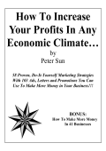 How To Increase Your Profits In Any Economic Climate…