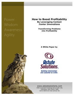 How to Boost Profitability by Leveraging Contact - Astute Solutions