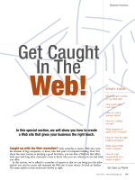 In this special section, we will show you how to create a Web site