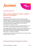 How to resolve problems and make a complaint about the - Age UK