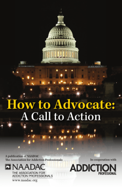 How to Advocate: - NAADAC