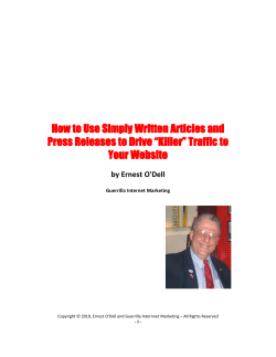 How to Use Simply Written Articles and Press Releases to Drive