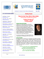 How to Live Your Life in One Letter - Northeast South Dakota SHRM