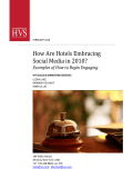 Examples of how hotels are embracing social media - HVS.com