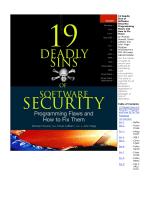 19 Deadly Sins of Software Security - Portal de Download