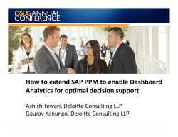 How to extend SAP PPM to enable Dashboard - ASUG.com