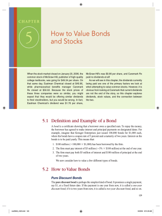 5 How to Value Bonds and Stocks