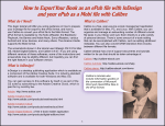 How to Export Your Book as an ePub file with InDesign and your