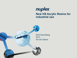 How to use this template #1 - Nuplex Resins
