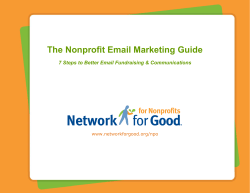 How to Do Good Nonprofit Email Newsletters - Network for Good