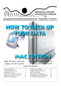 MAC EDITION HOW TO BACK UP YOUR DATA - Data Pro and Vom