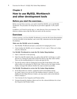 How to use MySQL Workbench and other - jackmyers.info