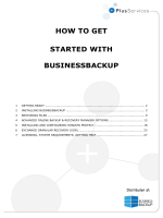 HOW TO GET STARTED WITH BUSINESSBACKUP